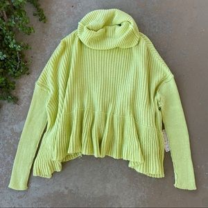 Free People Layer Cake Sweater in Key Lime
